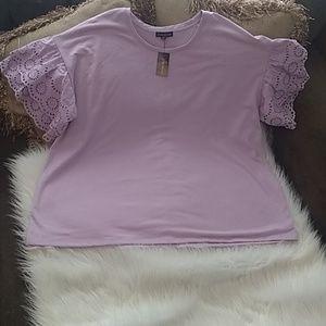 NWT Lane Bryant purple blouse size 22/24